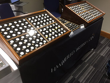 Our stand at the London Coin Fair